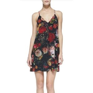 Alice & Olivia Floral Silk Slip Dress Size 6